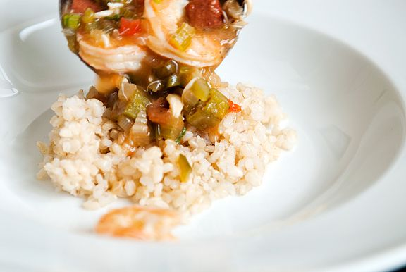 Recipe: Seafood Andouille Gumbo ladled over rice