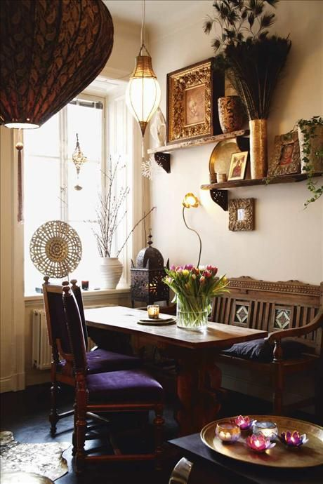 Bohemian dining home dining room pinterest for Dining room ideas bohemian