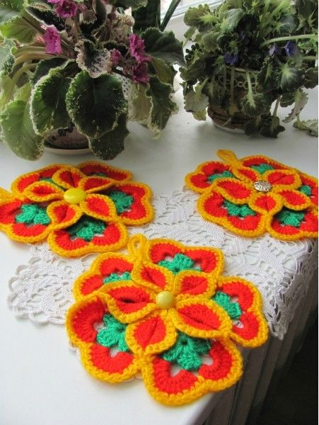 crochet beauty flower coasters, crochet pattern | make handmade, crochet, craft
