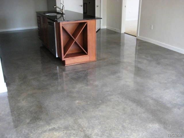 Concrete sealed kitchen floors pinterest for How to clean sealed concrete floors