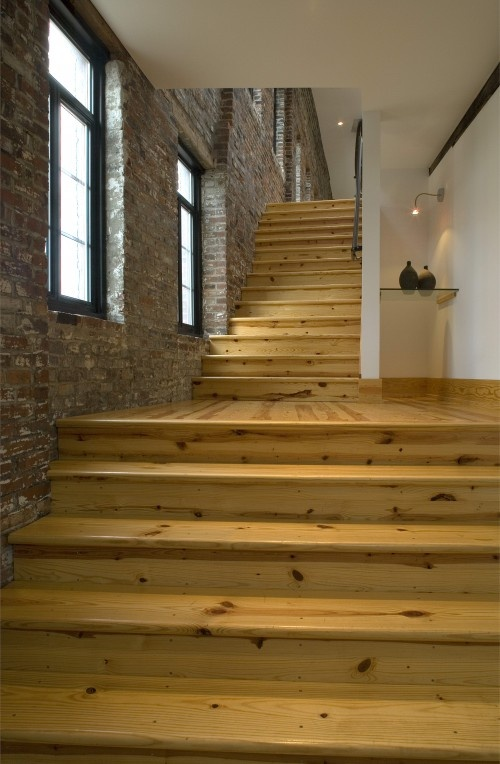 Stained Pine Stairs : Staircase; pine  (The) Great Indoors  Pinterest