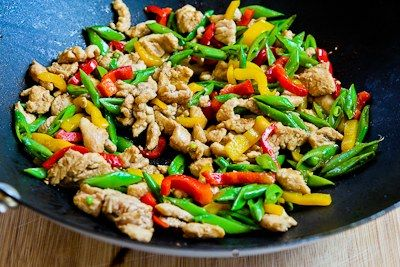 Stir Fried Turkey Chicken with Sugar Snap Peas and Peppers (and Tips ...