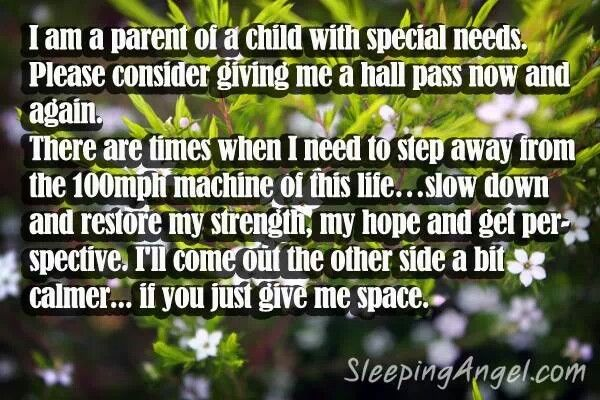 Are you a parent of a child with special needs?