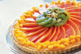 Cheesecake Tart with Tropical Fruits   Sweets and Treats   Pinterest