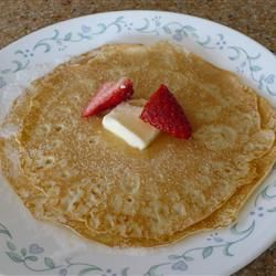 Basic Crepes - so yummy with fresh fruit and whipped cream