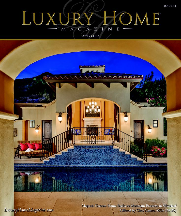 luxury home magazine of arizona issue 7 6 cover photography by high res media llc arizona. Black Bedroom Furniture Sets. Home Design Ideas