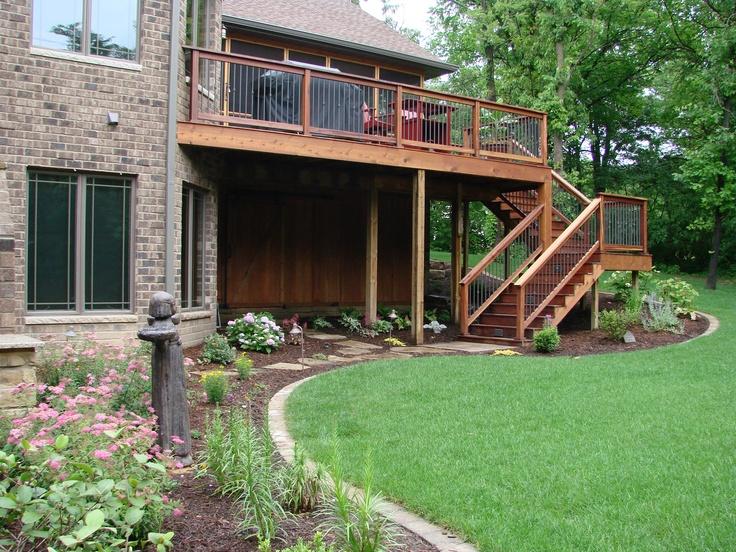 Under Deck Garden Ideas : Back deck landscaping