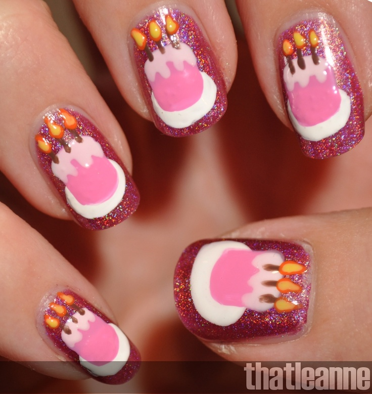 Nail Cake: Birthday Cake Nail Art