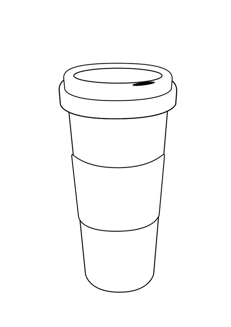 Starbucks coffee cup template the image for Starbucks coloring page
