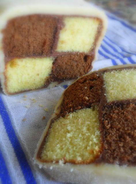 Hazelnut Battenburg The English Kitchen: Teatime Treats