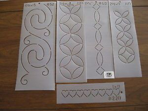 22 Quilting Templates Stencils quilt plastic hand Simply Creations Dritz lot