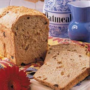 Granola Raisin Bread in the bread machine.3.5 cups flour