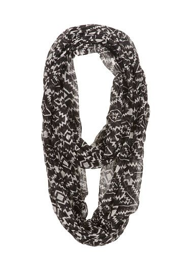 Contrast Geo Print Scarf (original price, $14) available at #Maurices