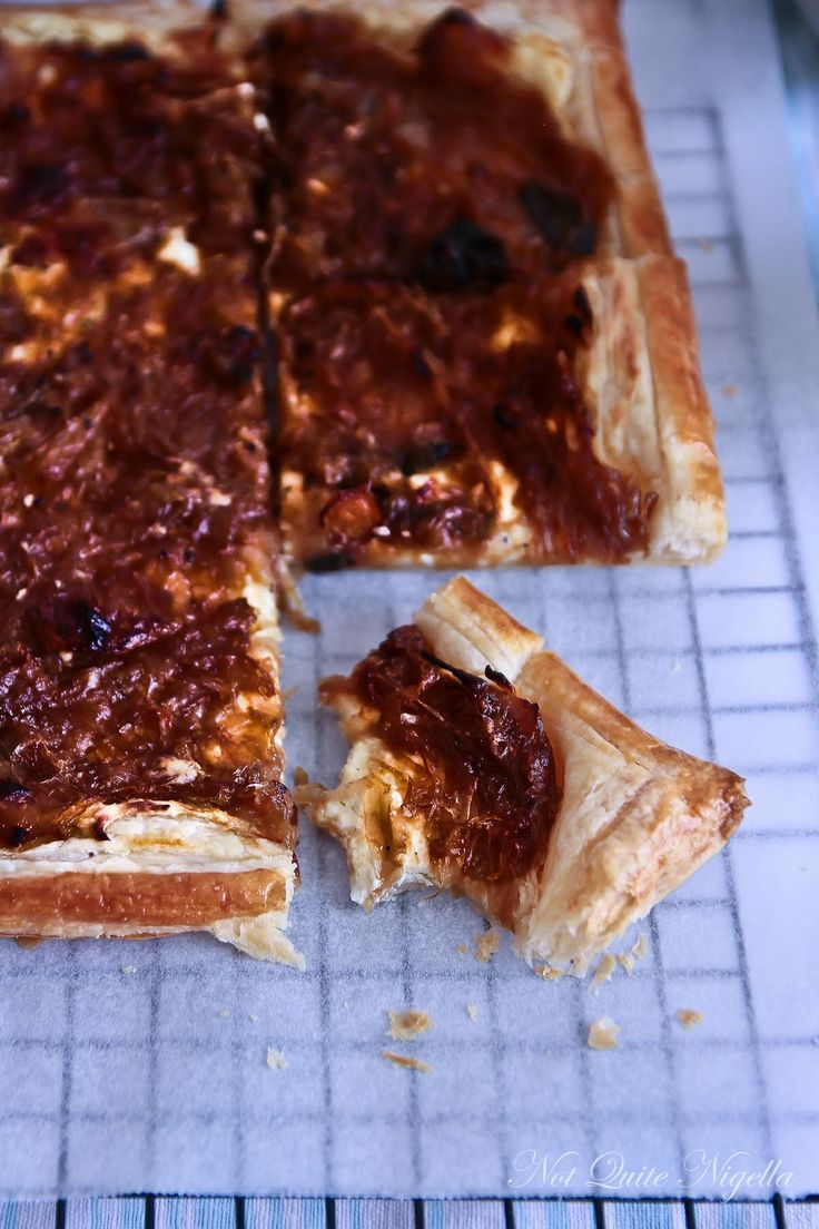 Caramelised Onion & Cream Cheese Tart   Appetizing Appetizers and Div ...