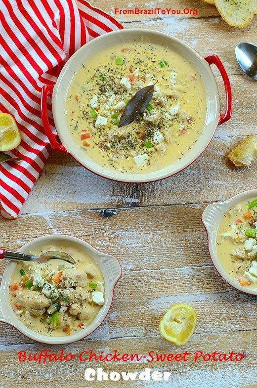 Buffalo Chicken-Sweet Potato Chowder | B-nut Squash, Sweet Taters & P ...