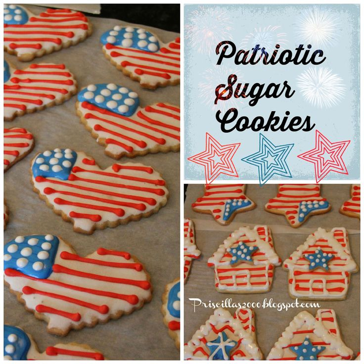 4th july sugar cookie pizza