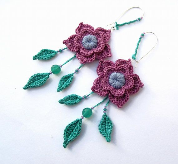 Crochet Earrings : crochet earrings Knitting, etc. Pinterest