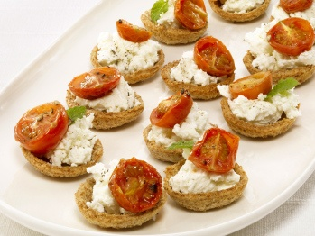 Goat cheese croustades. I made these for a Christmas party and they ...