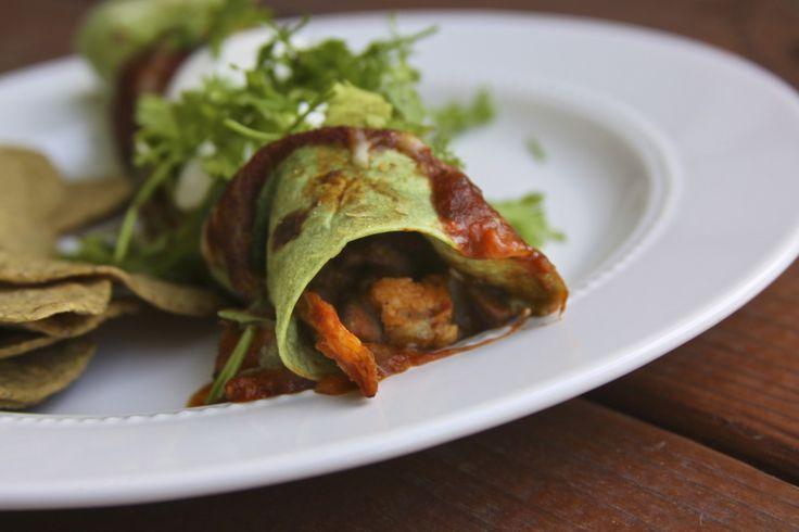 Chicken and Veggie Stuffed Enchiladas   Recipe