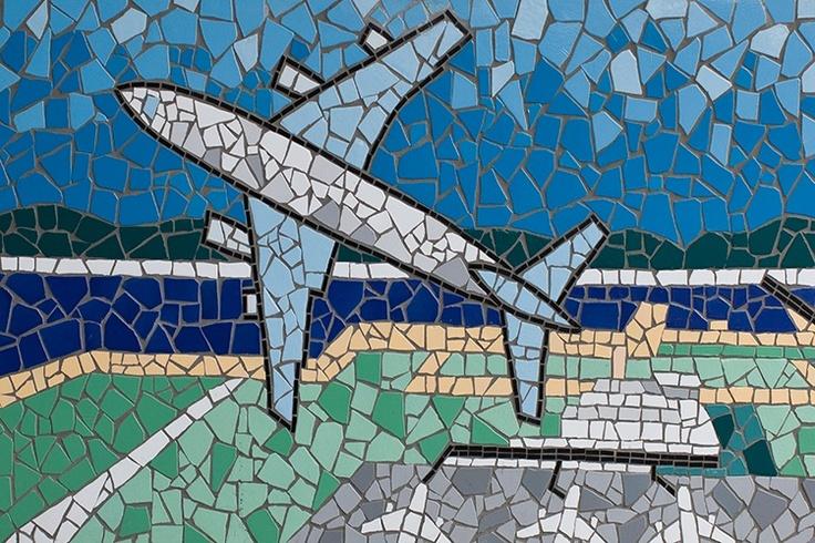 Mosaic - airplane - Kobe, Japan | creative inspiration | Pinterest