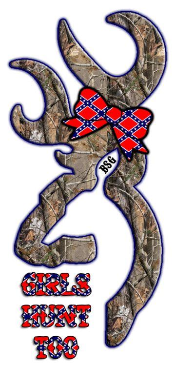 Camo Browning Logo Rebel Flag