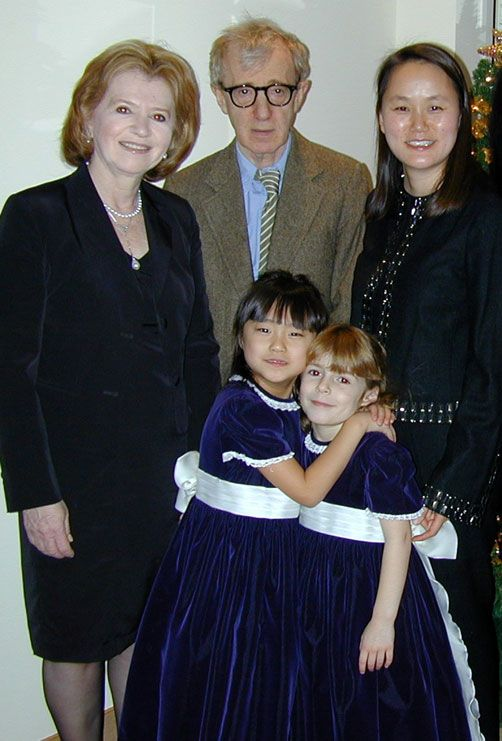 Woody Allen and wife Soon-Yi Previn with their Daughters Bechet and ...