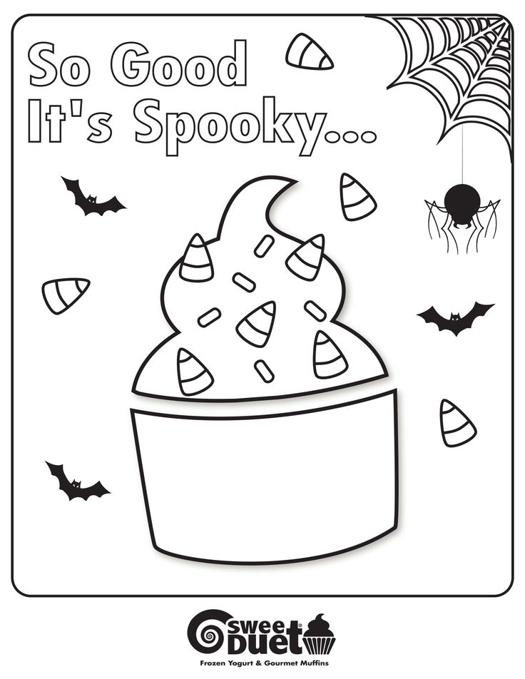 Frozen Yogurt Coloring Page Images Yogurt Coloring Page