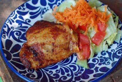 Spicy Honey-Brushed Chicken Thighs | Best of A Little Nosh | Pinterest