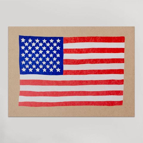 american flag with corporate logos