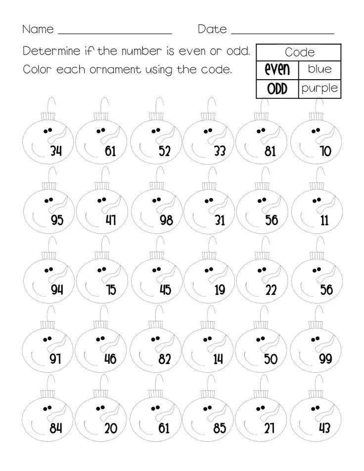 Even & odd numbers math worksheet - free. | Math | Pinterest