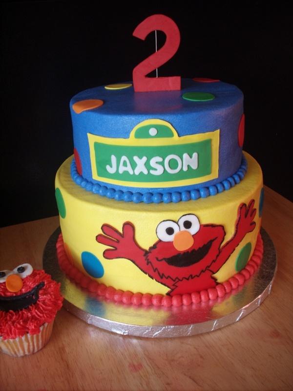 elmo fondant birthday cakes