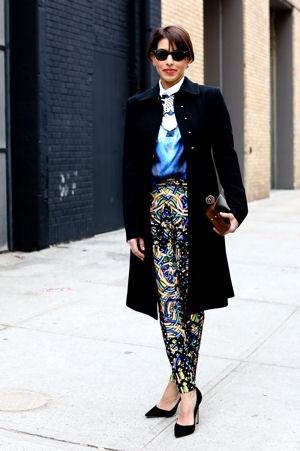 Street look fashion week New York : working girl arty - Fashion Week New York : les plus beaux street looks des défilés prêt-à-porte automne-hiver 2013-2014 - Journal des Femmes Mode