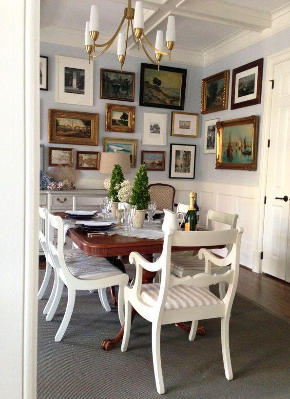 Dining Room Framed Art Wall