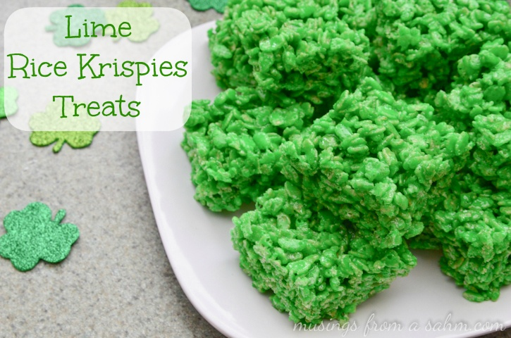 St Patrick's Day Lime Rice Krispies Treats #recipe - easy step-by-step ...