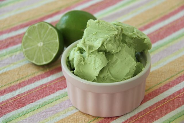 Avocado Ice Cream...tastes like key lime pie, is packed with good fats ...