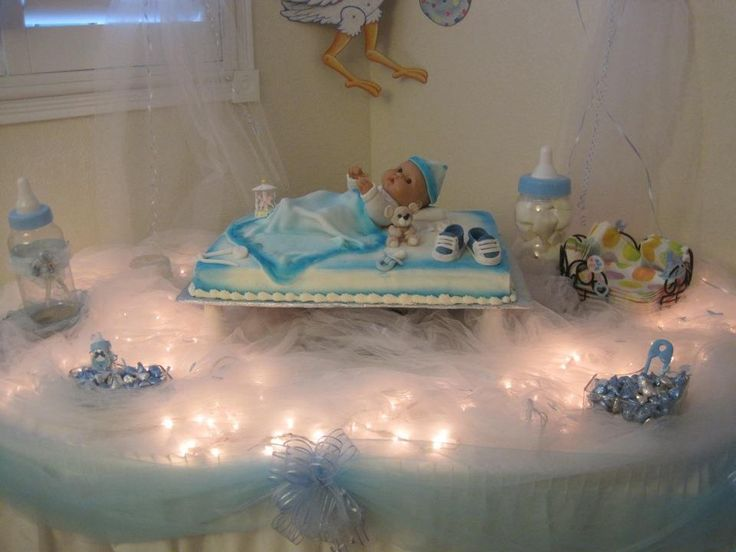Living room decorating ideas baby shower cake table pinterest for Baby shower cake decoration ideas