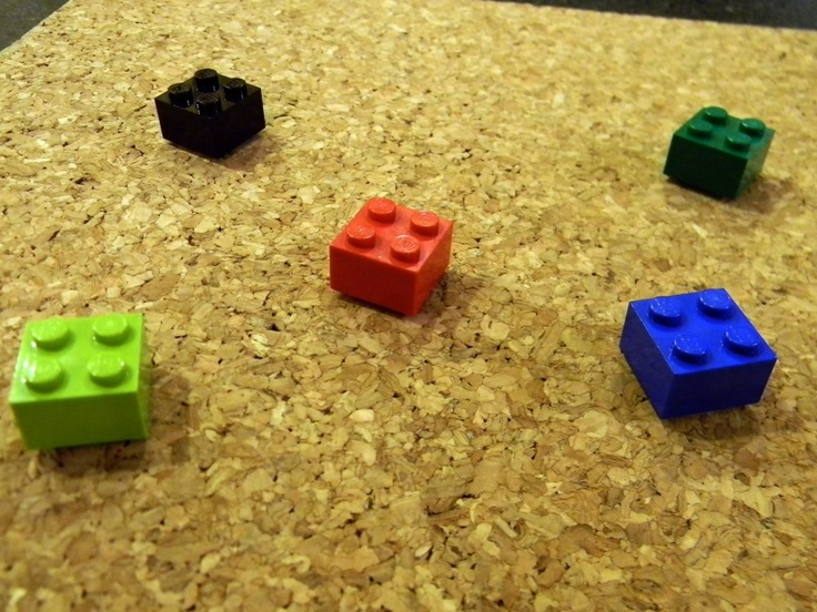 Lego push pins and magnets | Stocking Stuffers | Pinterest