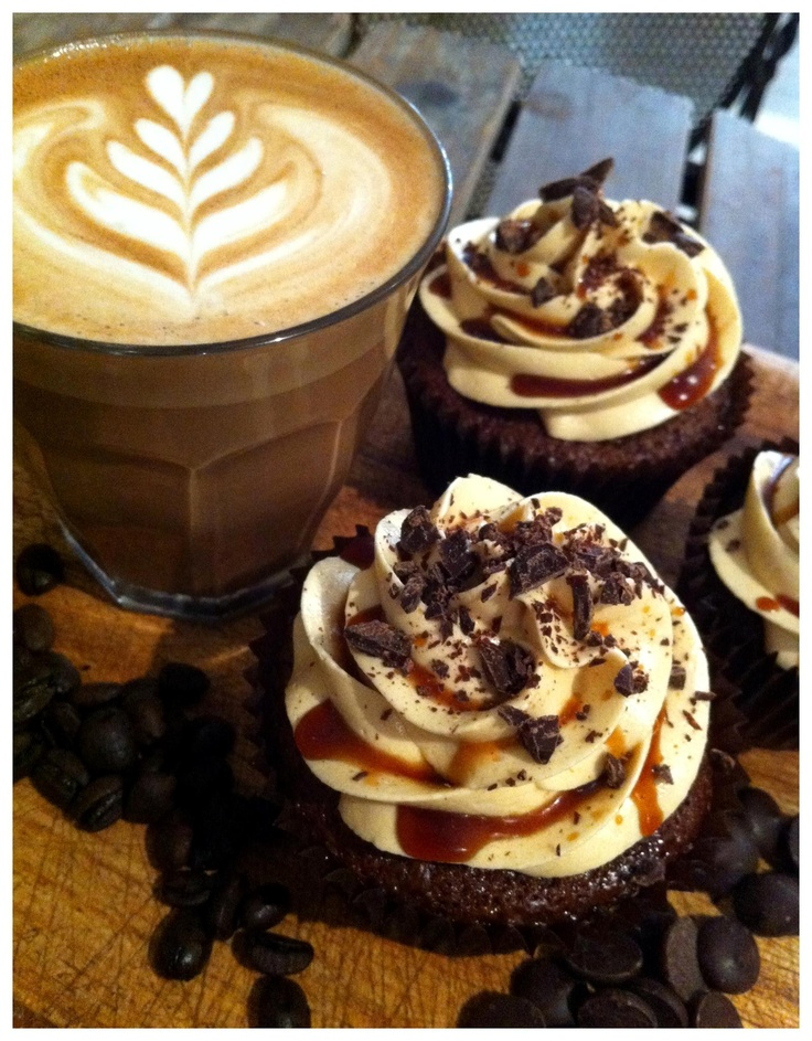 Cafe + Mocha Cupcakes | Sweets & Treats | Pinterest