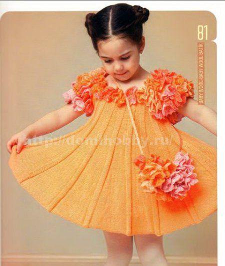 Вяжем платье для девочки до года спицами схемы