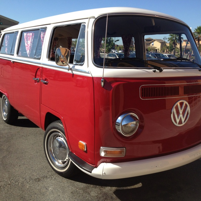 Cherry vw van made my heart hurt and in my favorite color too