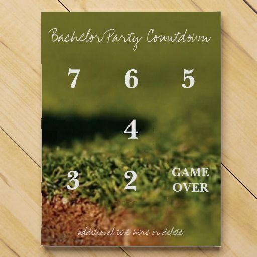 Golfing Bachelor Party Wedding Countdown Chocolate Countdown Calendar