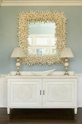 beach decor mirror