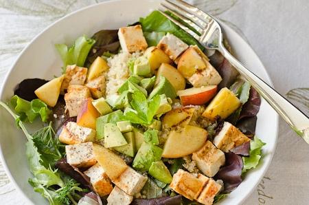 Sriracha and Honey Grilled Tofu Salad! | Vegetarian | Pinterest