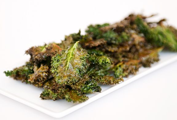 "baked kale chips from ""use real butter"" 