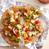 Breakfast Pita Pizzas   Recipe