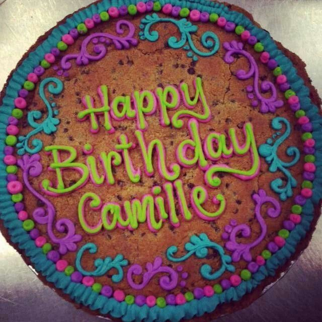 Cookie Cake Designs For 21st Birthday : Happy Birthday (Cookie Cakes) -oh baby, baby- Pinterest