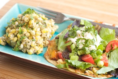 Roasted veg and black bean tostada | Recipe