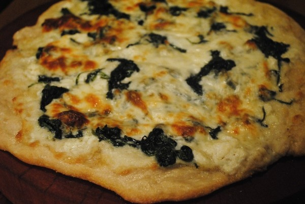 White Pizza with Spinach