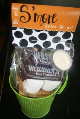 Teacher Gifts SMORES in a bucket!
