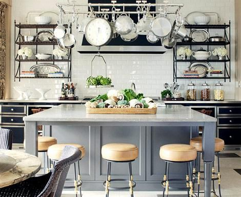 island and stools // kitchen by mick degiulio